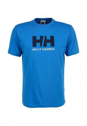 Футболка Helly Hansen. Цвет: голубой