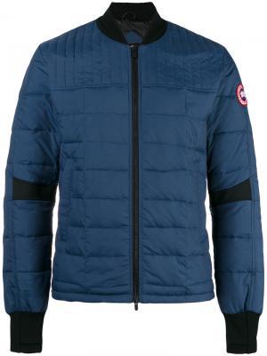 Стеганая куртка-бомбер Canada Goose. Цвет: синий