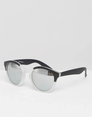 Jeepers Peepers Круглые солнцезащитные очки в черной оправе. Цвет: черный
