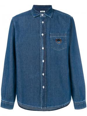 Джинсовая рубашка Mini Tiger Kenzo. Цвет: синий
