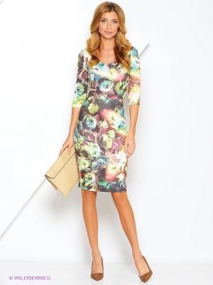 Платье Xarizmas. Цвет: зеленый, коричневый, голубой, бежевый, красный