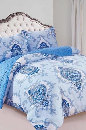 Постельное белье 2-сп., 50x70 Patrizia. Цвет: голубой