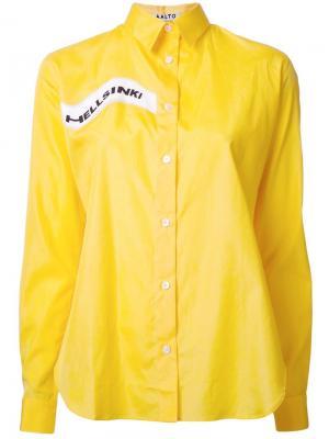 Рубашка с принтом Hellsinki Aalto. Цвет: жёлтый и оранжевый