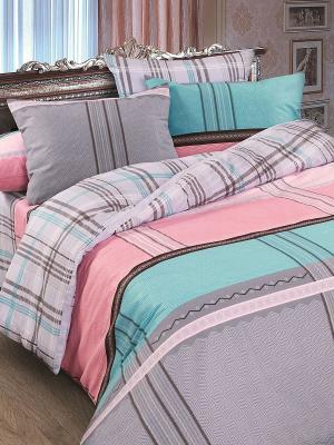 Комплект постельного белья Дельта Магия Ночи. Цвет: бежевый, бирюзовый, розовый