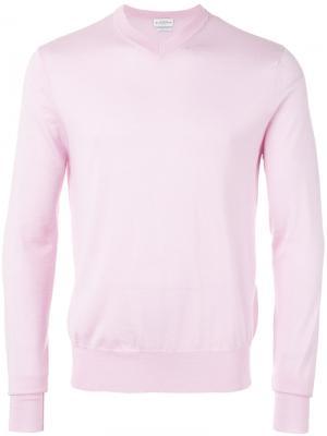 Джемпер с V-образным вырезом Ballantyne. Цвет: розовый и фиолетовый