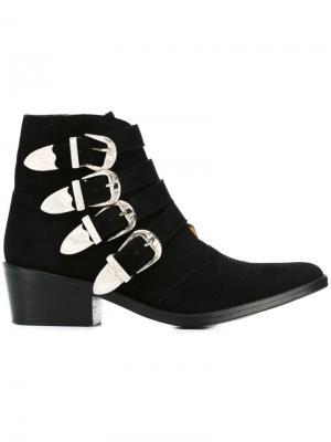 Ботинки с ремешками на пряжке Toga. Цвет: чёрный