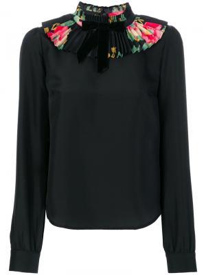 Блузка с воротником рюшами Manoush. Цвет: чёрный