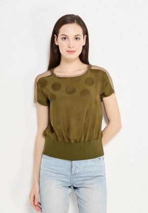 Блуза Sisley. Цвет: хаки