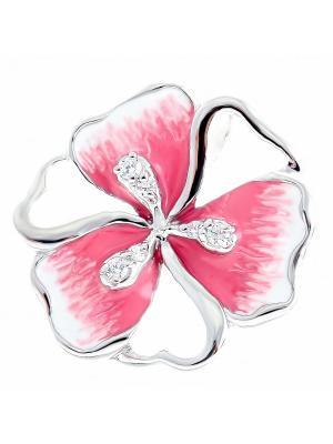 Подвеска Teosa. Цвет: розовый, белый, серебристый