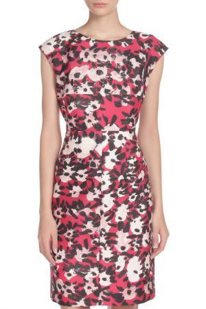Полуприлегающее платье без рукавов Marni. Цвет: красный, черный, бежевый