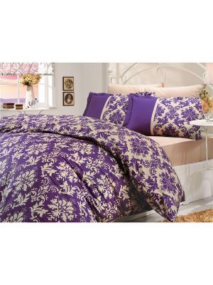 Кпб 1,5 сп. (Евро) поплин AVANGARDE фиолетовое HOBBY HOME COLLECTION. Цвет: фиолетовый