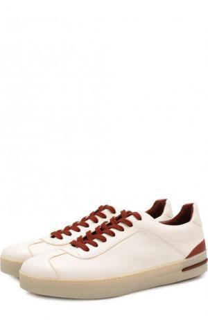 Кожаные кроссовки 70S Lady Walk с контрастной отделкой Loro Piana. Цвет: белый
