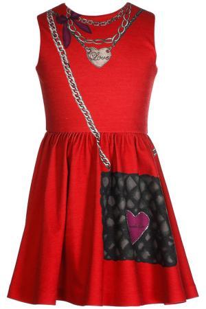 Платье LOVE MADE. Цвет: красный