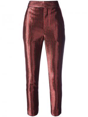 Укороченные брюки Phoenix Gun Haider Ackermann. Цвет: красный