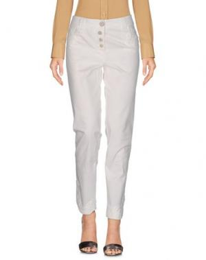 Повседневные брюки DANIELA DALLA VALLE ELISA CAVALETTI. Цвет: белый