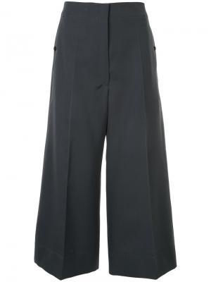 Укороченные широкие брюки Lemaire. Цвет: серый
