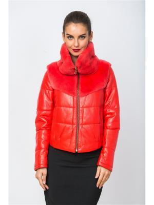 Кожаная куртка MONDIAL. Цвет: красный