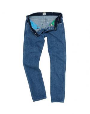 Джинсовые брюки WRANGLER by PETER MAX. Цвет: синий