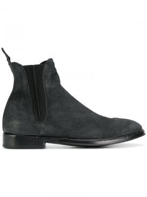 Ботинки по щиколотку без застежки Alberto Fasciani. Цвет: чёрный