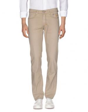 Джинсовые брюки 9.2 BY CARLO CHIONNA. Цвет: песочный