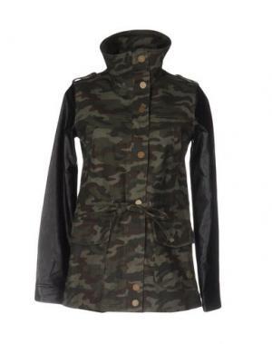 Куртка DUCK FARM. Цвет: зеленый-милитари