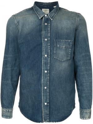 Джинсовая рубашка с эффектом омбре Kent & Curwen. Цвет: синий