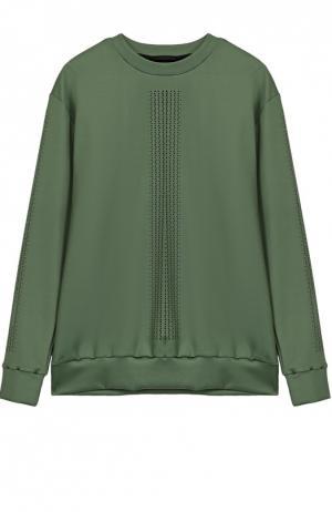 Пуловер прямого кроя с перфорацией Ultracor. Цвет: зеленый