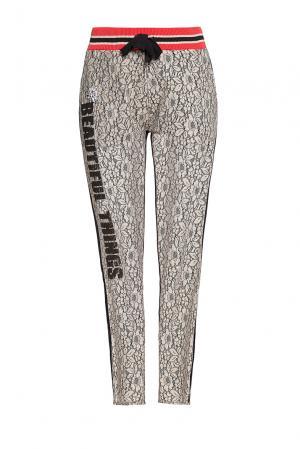 Кружевные брюки с кристаллами 186245 Cristina Effe. Цвет: разноцветный
