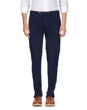 Повседневные брюки LUIGI BORRELLI NAPOLI. Цвет: грифельно-синий