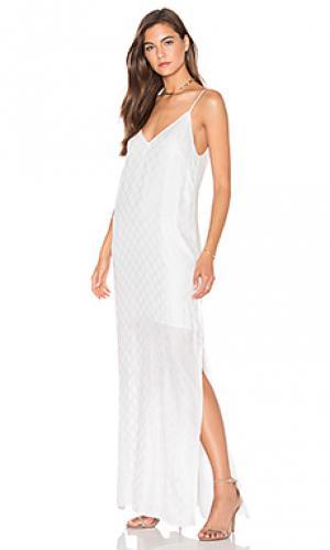 Макси платье the vermont TY-LR. Цвет: белый