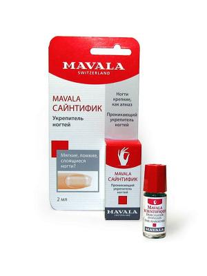 Средство для укрепления ногтей на блистере Scientifique 2ml Mavala. Цвет: синий