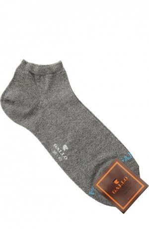 Укороченные хлопковые носки Gallo. Цвет: серый