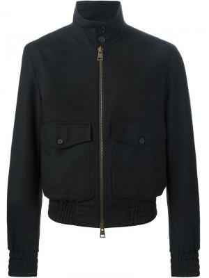 Легкая куртка на молнии Ami Alexandre Mattiussi. Цвет: чёрный
