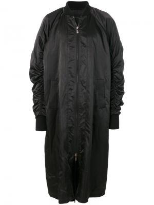 Пальто-бомбер D.Gnak. Цвет: чёрный