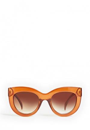 Очки солнцезащитные Mango. Цвет: оранжевый