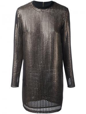 Платье Chainmail House Of Holland. Цвет: металлический