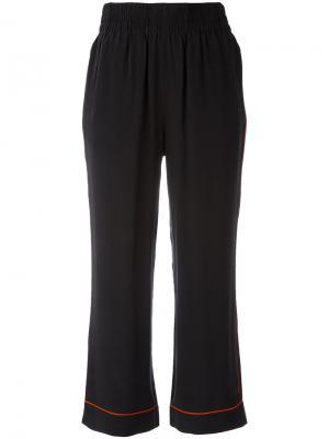 Укороченные брюки Ganni. Цвет: чёрный