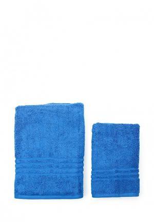 Комплект полотенец 2 шт. Arloni. Цвет: синий
