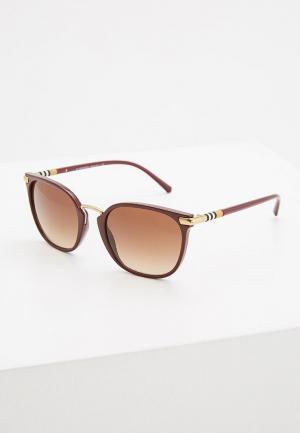 Очки солнцезащитные Burberry. Цвет: бордовый