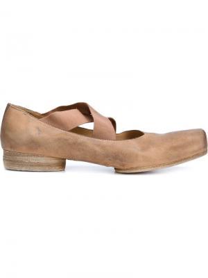 Балетные туфельки Uma Wang. Цвет: телесный