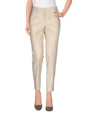 Повседневные брюки LES COPAINS. Цвет: бежевый