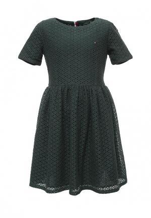 Платье Tommy Hilfiger. Цвет: зеленый
