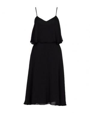 Платье до колена SPACE. Цвет: черный