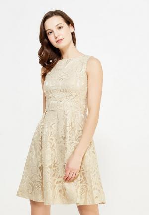 Платье Incity. Цвет: бежевый