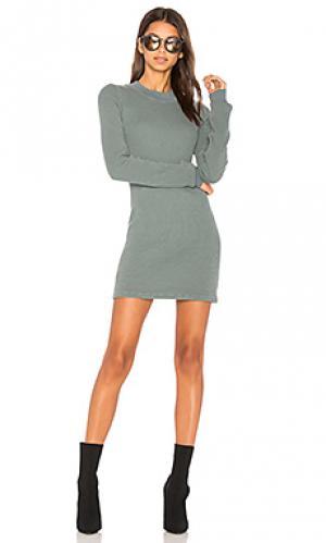 Теплое платье с длинным рукавом the monaco COTTON CITIZEN. Цвет: аспидно-серый