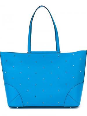 Средняя сумка-шопер Claudia Studs MCM. Цвет: синий