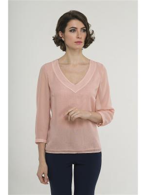 Блузка Modern. Цвет: бледно-розовый
