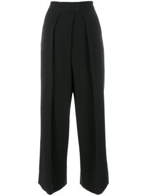Широкие укороченные брюки Isabel Benenato. Цвет: чёрный