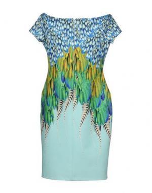 Короткое платье GAI MATTIOLO. Цвет: зеленый