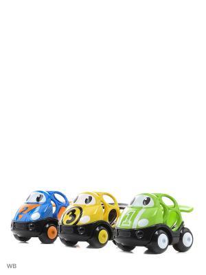 Машинки Только Вперед! Гонка! 3 в комплекте Oball. Цвет: черный, лазурный, светло-зеленый, желтый
